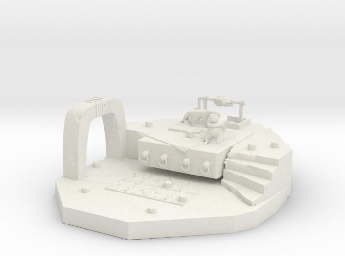Diorama of Sluggy's Throne Room 3d printed
