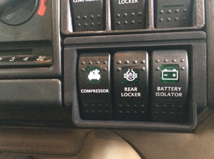 Land Rover Discovery carling switch bracket 3d printed