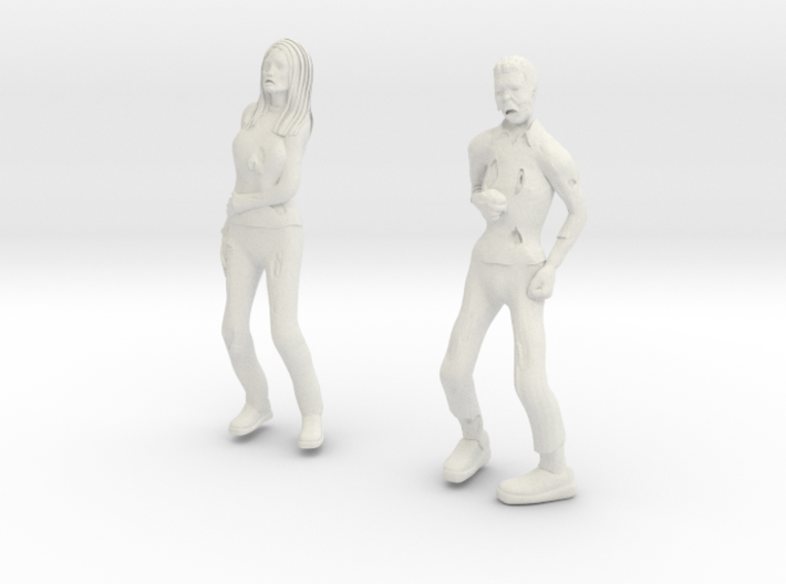 Zombie Male And Female 3d printed
