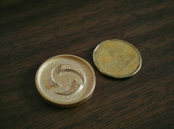 Doubloon - Heroes of the Storm 3d printed Polished Gold Steel - Heroes of the Storm Side