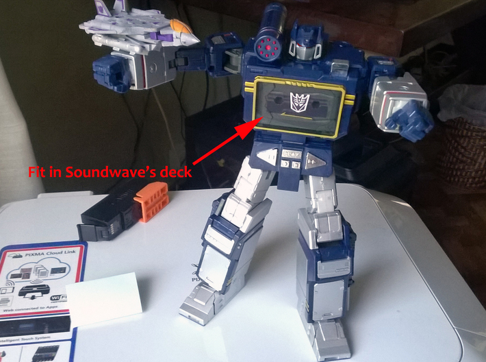 Transformers Cassette-F22 cheapest ver no missiles 3d printed