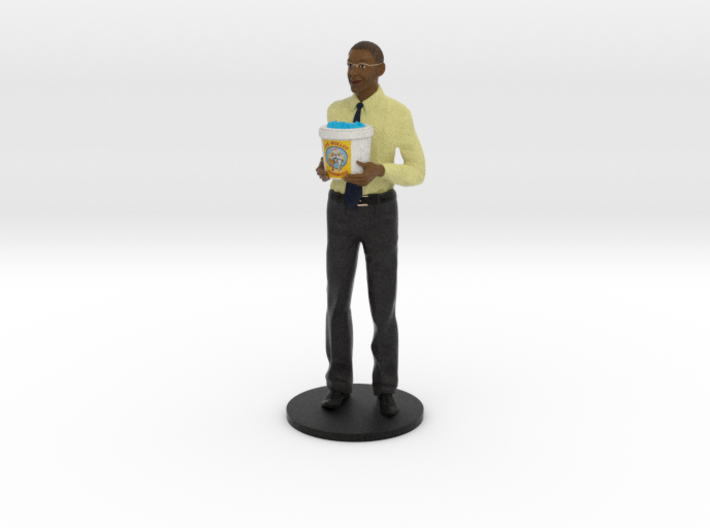 Gus Fring with Meth Bucket 3d printed