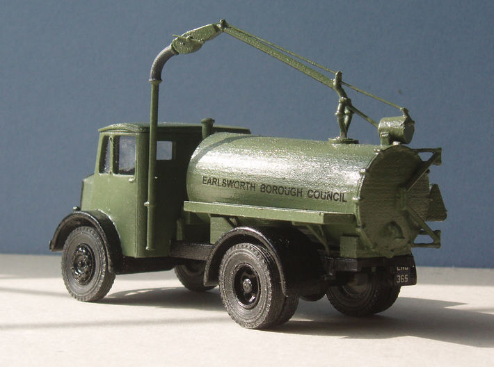 1:43 Dennis Pax Cab & Gully Emptier Chassis 1940s 3d printed Complete with body & pipework