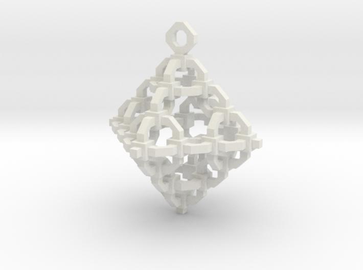 Diamond Cage Pendant 3d printed