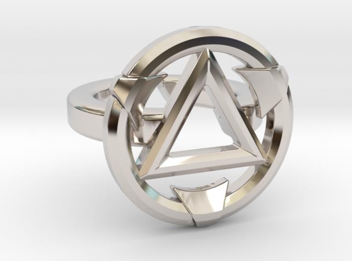 FIRESTARTER SINGLE BAND RING 8.5 3d printed