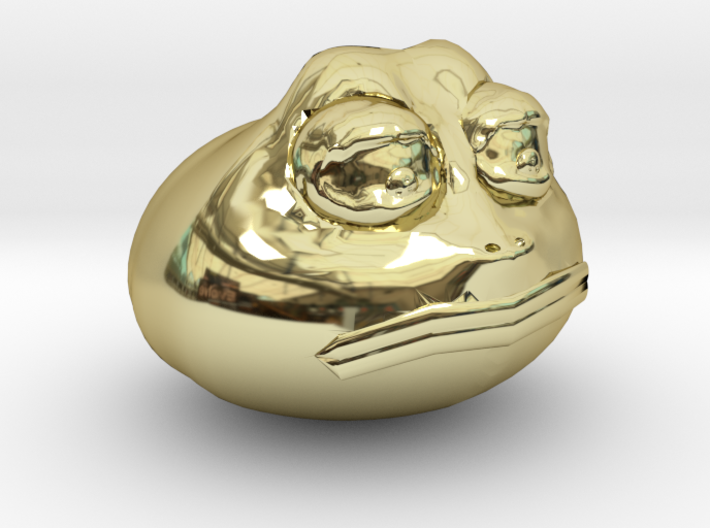 Premium Meme-Of-The-Year Limited Edition Gold Pepe 3d printed