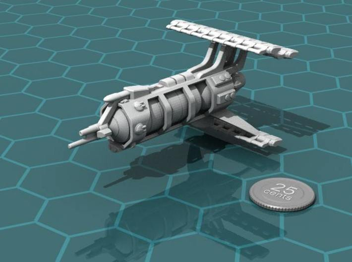 LCS Carrier 3d printed Render of the model, plus a virtual quarter for scale.