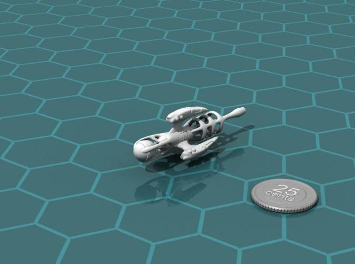 Alien Artifact 1 3d printed Render of the model, with a virtual quarter for scale.