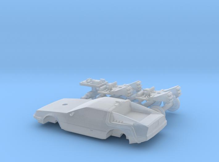 DeLorean Time Machine Train 1:160 3d printed