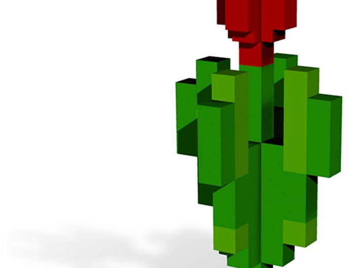 Minecraft Tulip 3d printed
