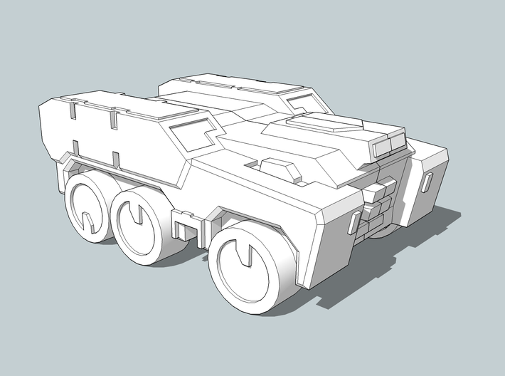'Broadside' Armored Truck 6mm 3d printed