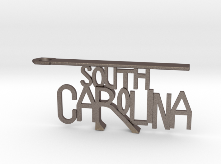 South Carolina Bottle Opener Keychain 3d printed