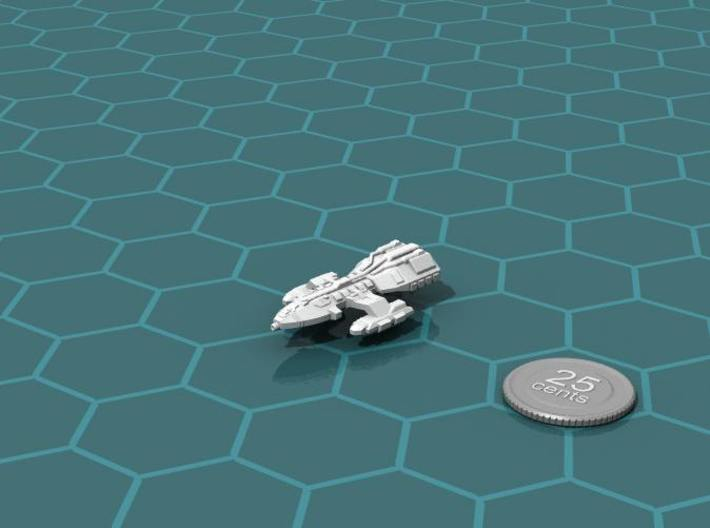 Long Range Courier 3d printed Render of the model, with a virtual quarter for scale.