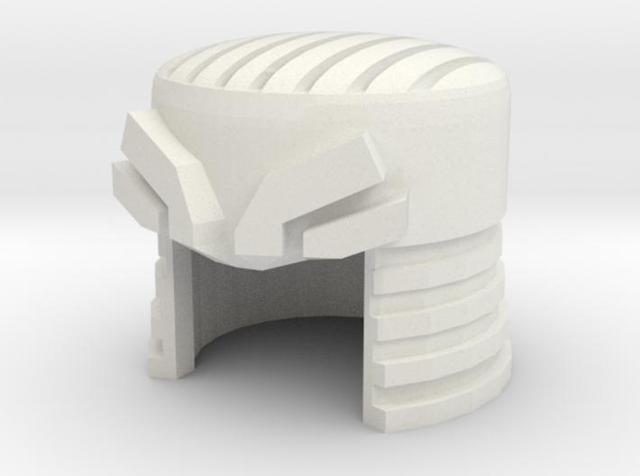 Robohelmet: Wrecked Topper 3d printed