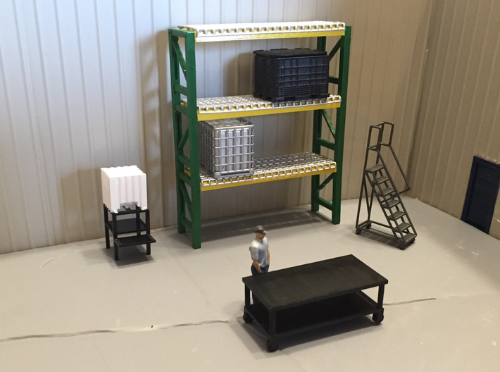 Pallet Rack 2 High 3d printed