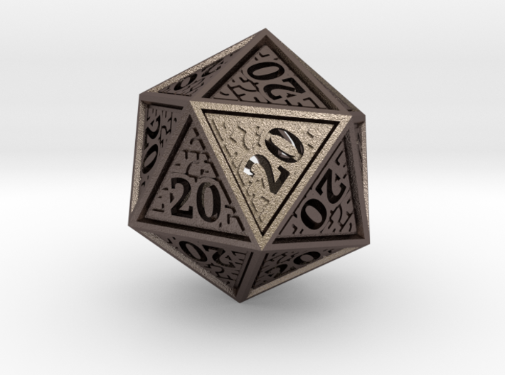 Hedron D20 (All 20's version) Hollow 3d printed