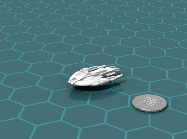 Xuvaxi Prosecutor 3d printed Render of the model, with a virtual quarter for scale.