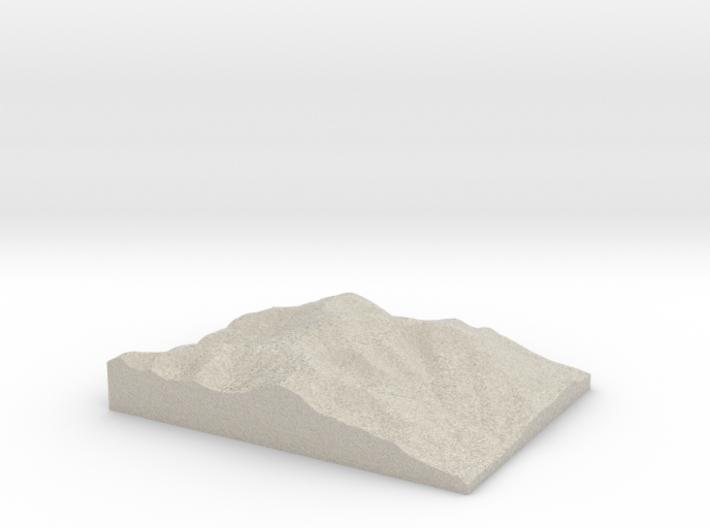 Model of Mount Washington 3d printed