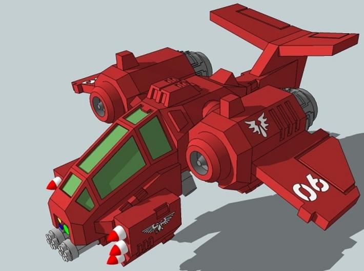 6mm RainClaw VTOL Gunship (4pcs) 3d printed