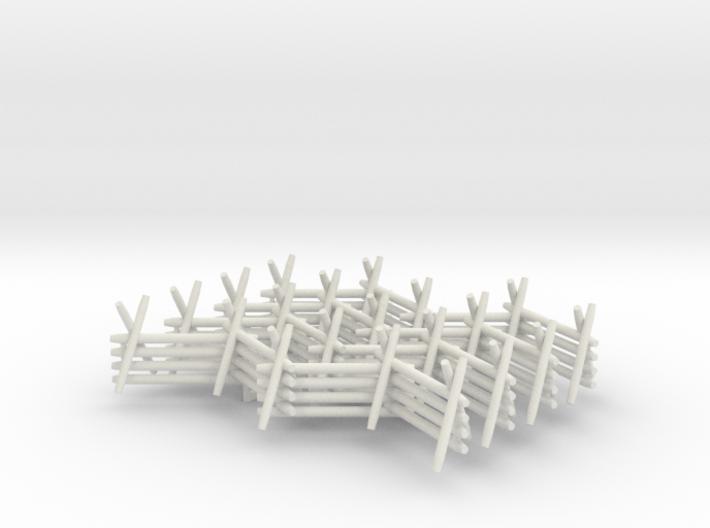 28mm Worm Fences (4 pcs) 3d printed