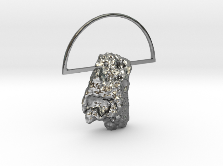 Mars Rock Pendant [metal edition] 3d printed