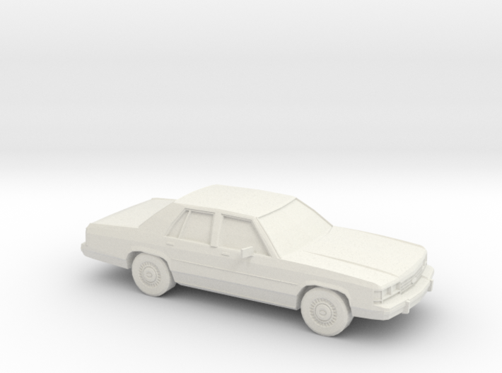 1/87 1989 Ford Crown Victoria 3d printed