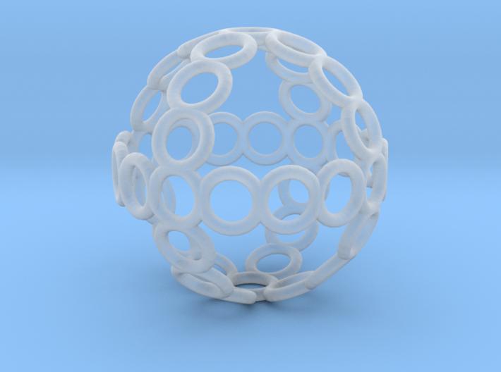 Charm: Sphere of Rings 3d printed