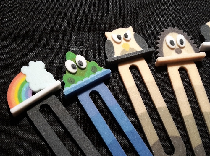 bookmark - S106 - angry #@!!! 3d printed