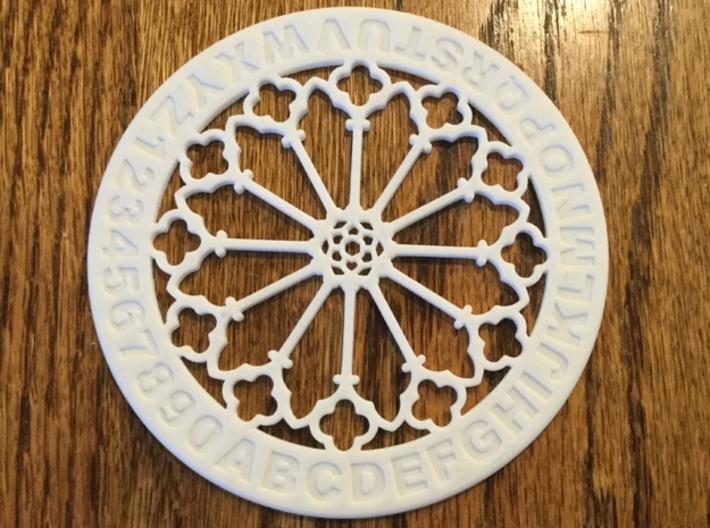 "4"" Custom Rose Window Coaster 3d printed"