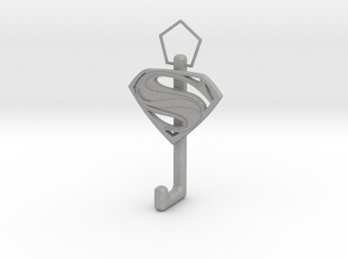 Superman Logo hook 3d printed