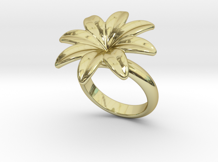 Flowerfantasy Ring 31 - Italian Size 31 3d printed