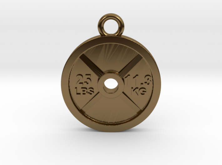 25 Lb Weight Plate Charm / Pendant 3d printed