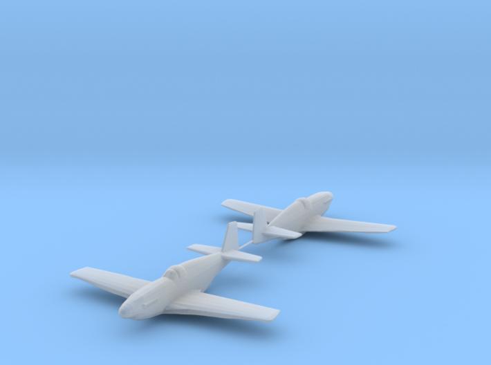North American P-51C 'Mustang' 1/200 x2 HDA 3d printed