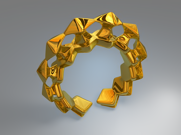 Pylon Ring 3d printed Pylon Ring (Gold - Rendering)