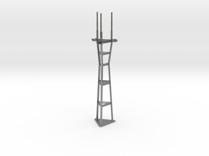 "4"" micro metal tower 3d printed"