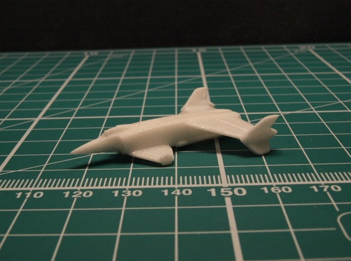 Rockwell XFV-12A (In Flight) 1/285 6mm 3d printed surface treated with acrylic nail polish