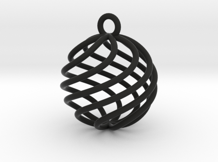 Small spherical crystal therapy cage 3d printed