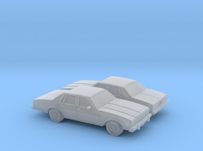 1/160 2X 1977-78 Chevrolet Impala Sedan 3d printed