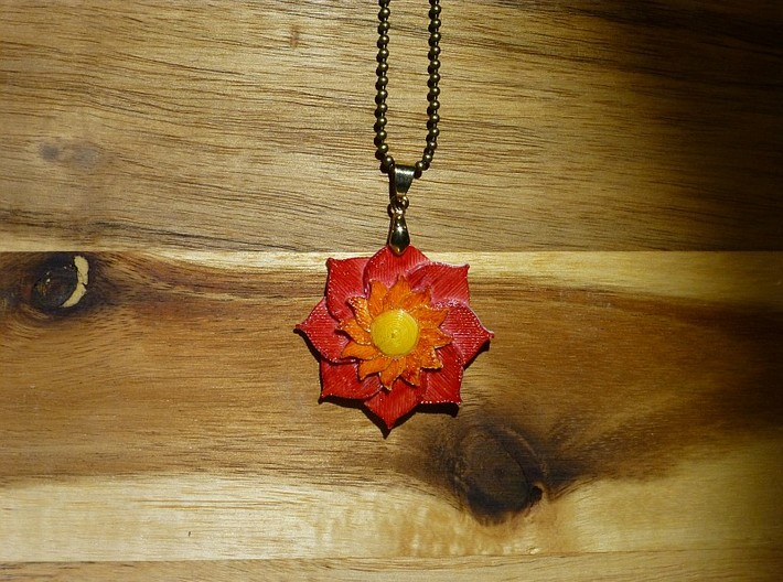 Lotusblüte Anhänger Lotusflower Pendant 3d printed