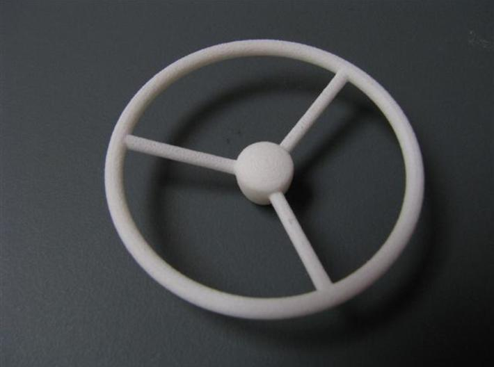 steering wheel large 3d printed strong an white flexible
