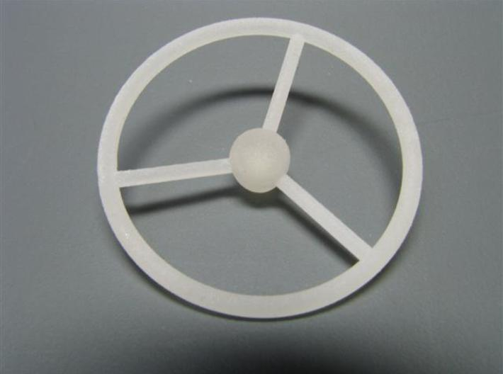 steering wheel large 3d printed frosted detail