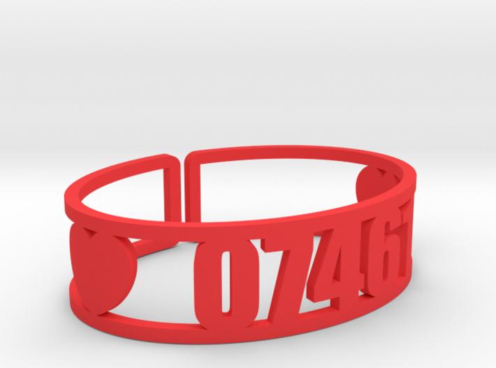 Louemma Zip Code Cuff 3d printed