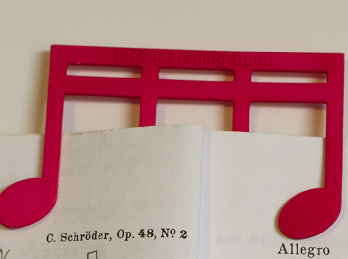 Music Book Page Holder / Music Clip customizable 3d printed