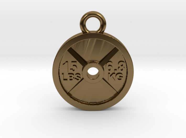 15lb Weight Plate Charm 3d printed