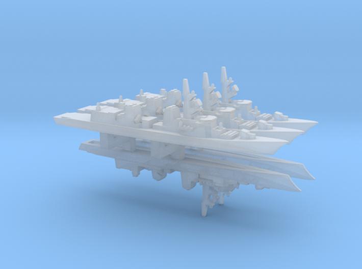 Takanami-class destroyer x 5, 1/6000 3d printed