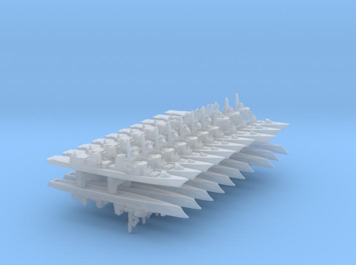 JMSDF Destroyer Pack 1, 1/6000 3d printed