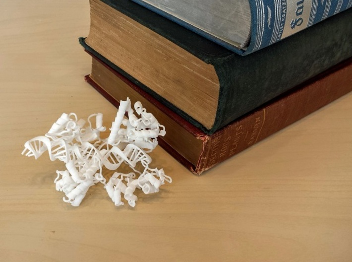 CRISPR Cas9 (mini scale) 3d printed Mini model in White Strong & Flexible