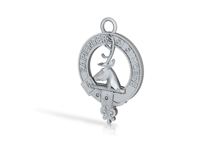 Clan Davidson key-fob 3d printed