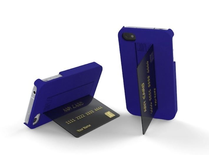 SIMPLcase - iPhone 4 / 4s case for travelers 3d printed SIMPLcase adapts standard credit cards as hands free stands