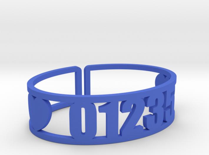 Danbee Zip Code Cuff 3d printed
